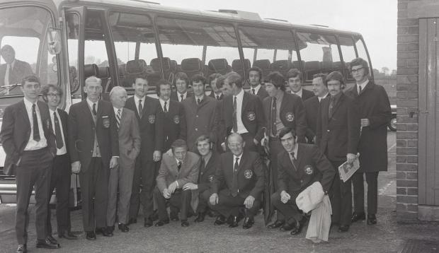 News and Star: The United travelling party bound for Italy in the summer of 1972, where they faced Roma and Catanzaro in the Anglo-Italian Cup