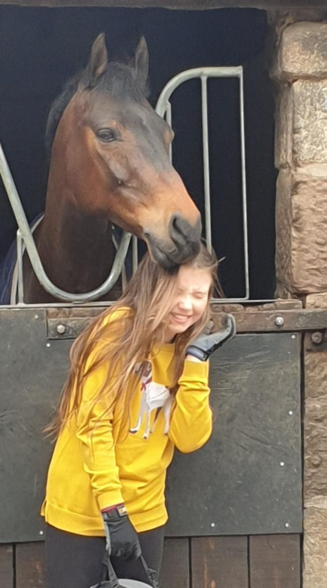 Lexi McSherry with her new pony Caithness Bertie Basset