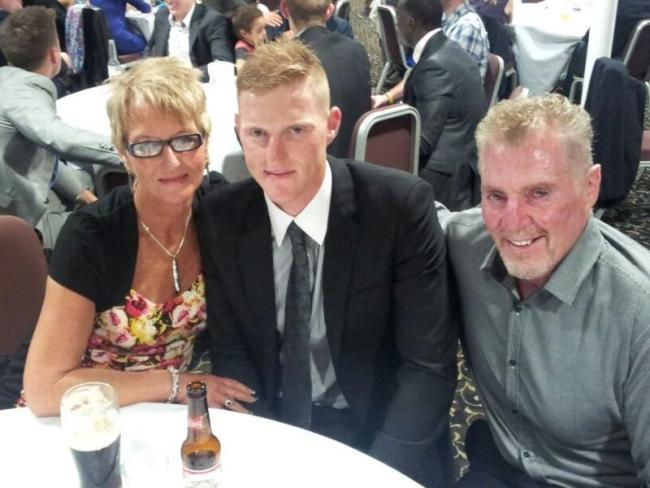 Ben Stokes with mum Deb and dad Ged
