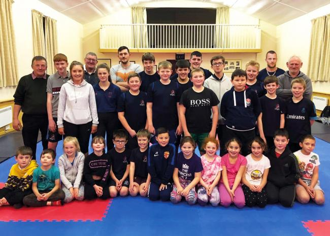 Carlisle Wrestling Club wrestlers and coaches - Picture: CWWA