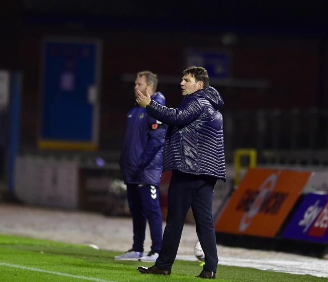 POSITIVE RESULT: Carlisle United vs Newport County on Tuesday. Carlisle boss Chris Beech      Picture: Stuart Walker
