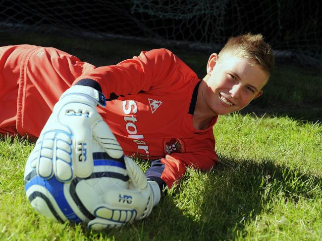 Dean Henderson pictured in 2011 as he joined Manchester United from Carlisle United (photo: Mike McKenzie)