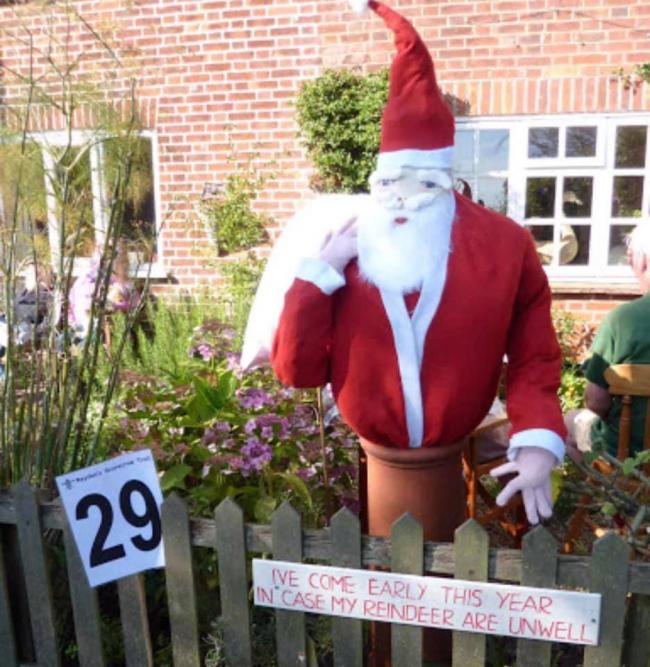 Picture: Christmas scarecrow trail 2020 Corby Hill Little Corby Warwick Bridge