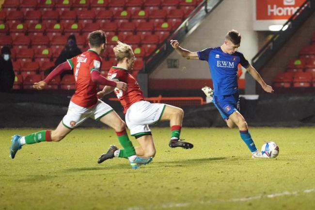 Taylor Charters impressed as United went top of the league at Walsall (photo: Barbara Abbott)
