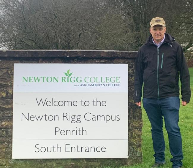 Letter: Neil Hudson outside Newton Rigg College in Penrith