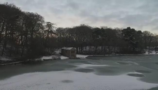 WINTER scene: A frozen over Talkin Tarn  Picture: Alastair Herd Photography/Discover Carlisle