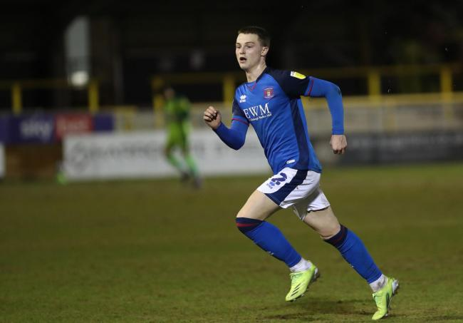 George Tanner pictured on his return to action last night (photo: Richard Parkes)
