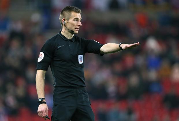 News and Star: Referee Michael Salisbury (photo: PA)