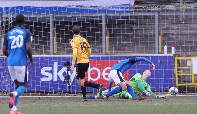 Adam May scores Cambridge's winner (photo: Richard Parkes)
