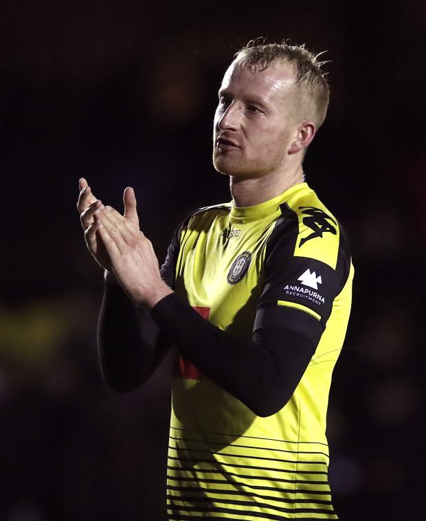 News and Star: Mark Beck put Harrogate ahead at Bolton (photo: PA)