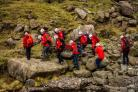 In training: Wasdale Mountain Rescue Team members