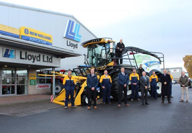 Lloyd Ltd celebrates recognition as New Holland combine dealer of the year for 2020. Photo: PA.