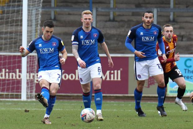 News and Star: United's best performances in recent weeks have come when they have passed more, such as in the win over Bradford (photo: Barbara Abbott)