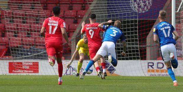 News and Star: Orient's Wilkinson gets away from Anderton to open the scoring