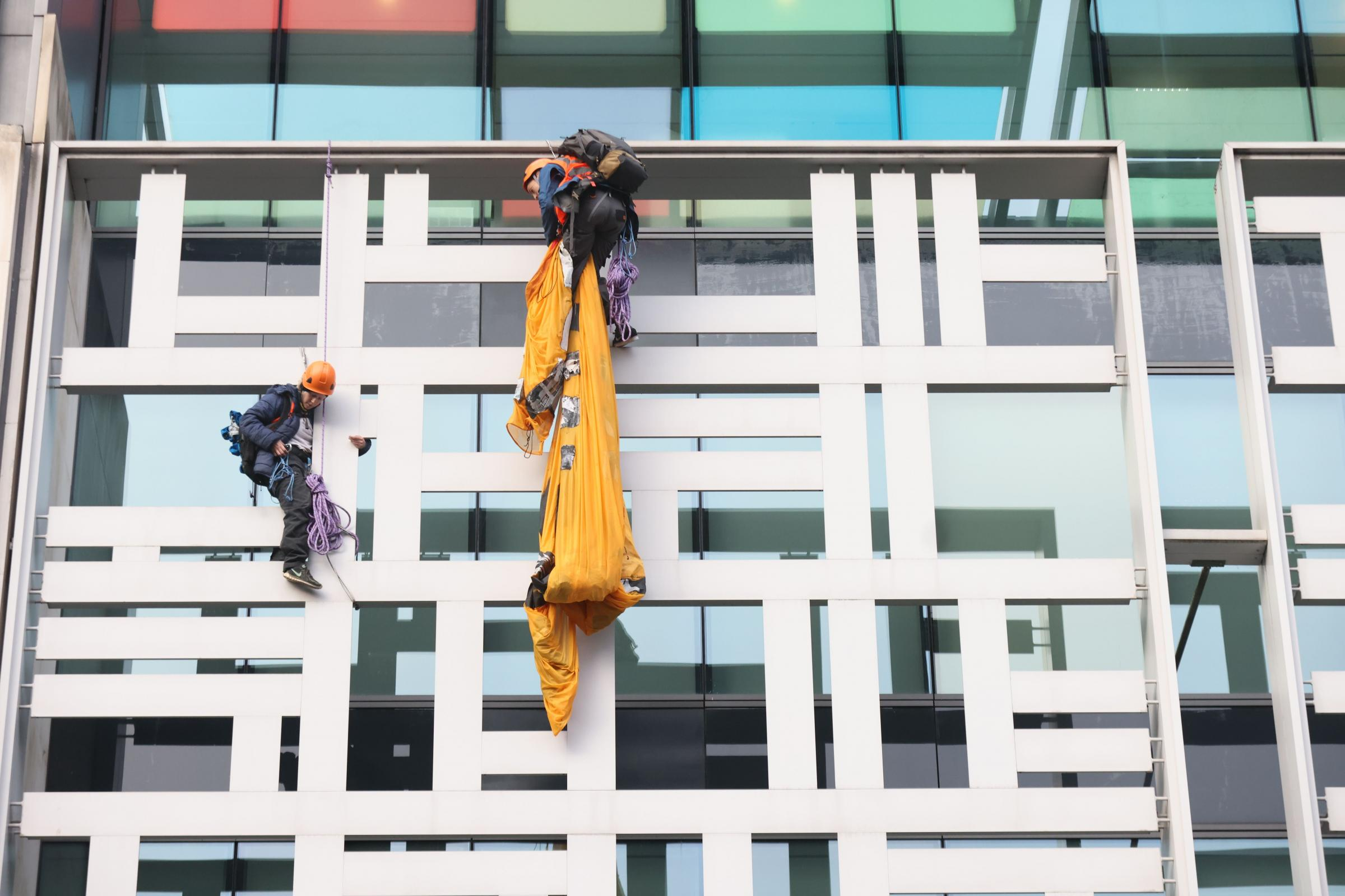 newsandstar.co.uk - Press Association 2021 - Activists scale Defra building in call for meat and dairy farm subsidies to end