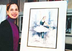 Ballet star shows off charity portraits
