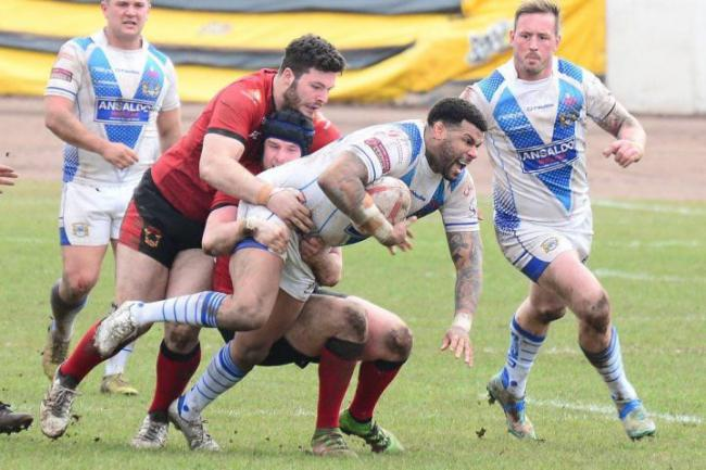 Ryan Bailey on a charge for Workington Town Picture: Gary McKeating