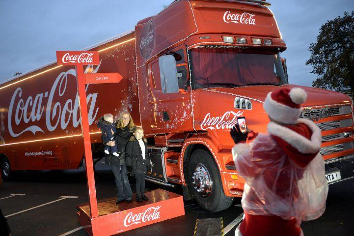where cumbrians can see the coca cola christmas truck - Coca Cola Christmas Commercial