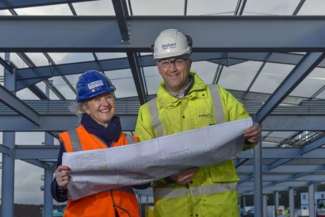 Kate Willard head of corporate projects at Stobart Group with Roy Hill project manager
