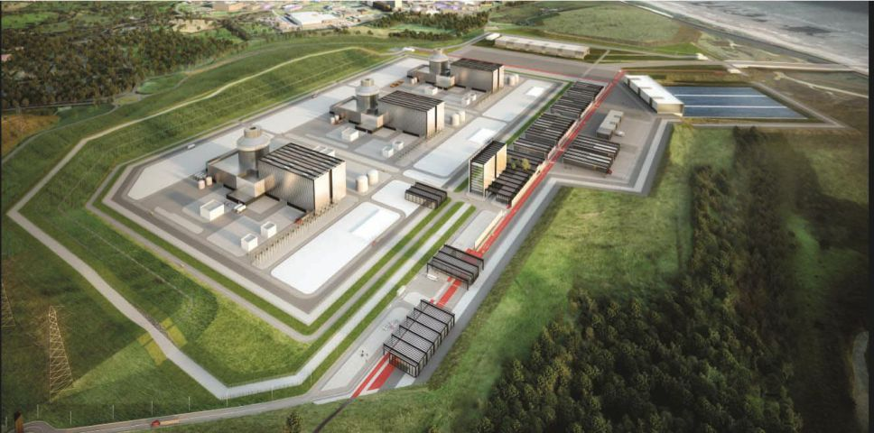 Artist's impression of what the new Moorside nuclear power plant could look like