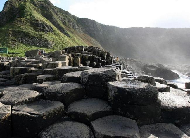 The Giant's Causeway in Northern Ireland had creationist displays at its visitors' centre.