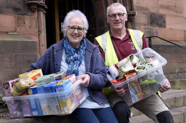 Carlisle Foodbank chairman Rachael Rodway with Garry Copley at the organisation's new headquarters
