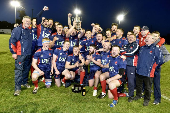 A toast to the cup: Carlisle celebrate winning the Cumbria Cup