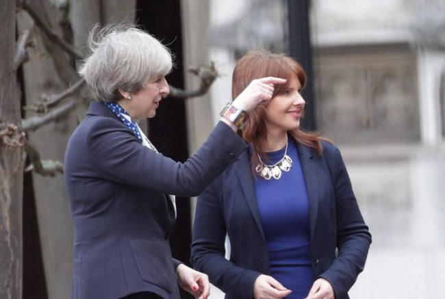 Copeland MP Trudy Harrison, right, with Prime Minister Theresa May