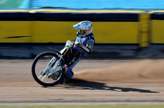 Unstoppable: Rasmus Jensen in action for Workington Comets