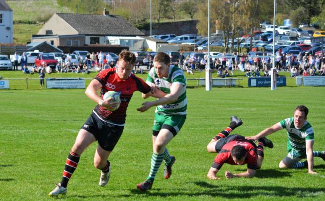 As it was: Aspatria's Andrew Miller scoring against Wigton (Photo: Barney Clegg)