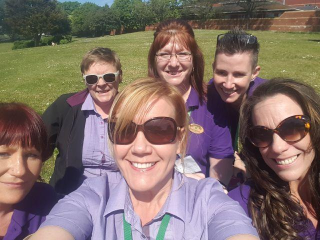 Paula and her Housekeeper team at Whinfell Forest