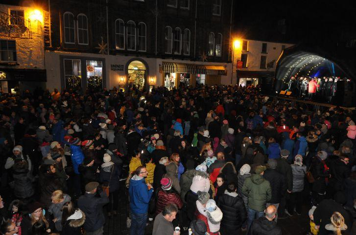 keswick christmas lights switch on the best yet