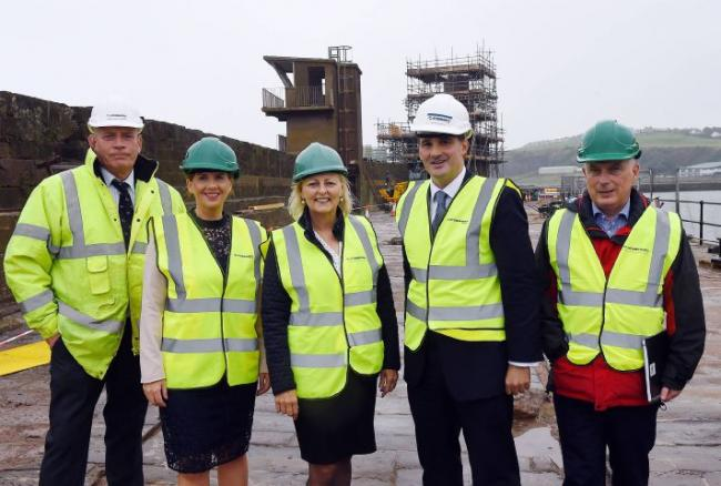 Northern Powerhouse minister visits Whitehaven harbourside