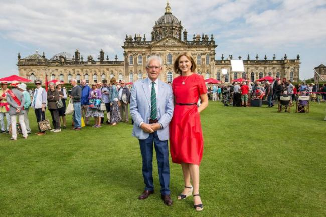 Bruce Parker and Fiona Bruce with                          .