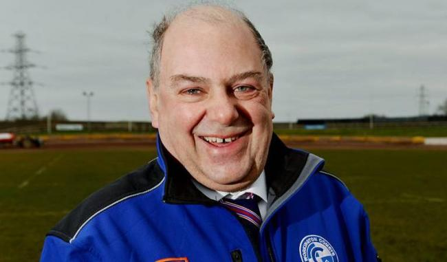 Thrilled: Workington Comets team manager Tony Jackson