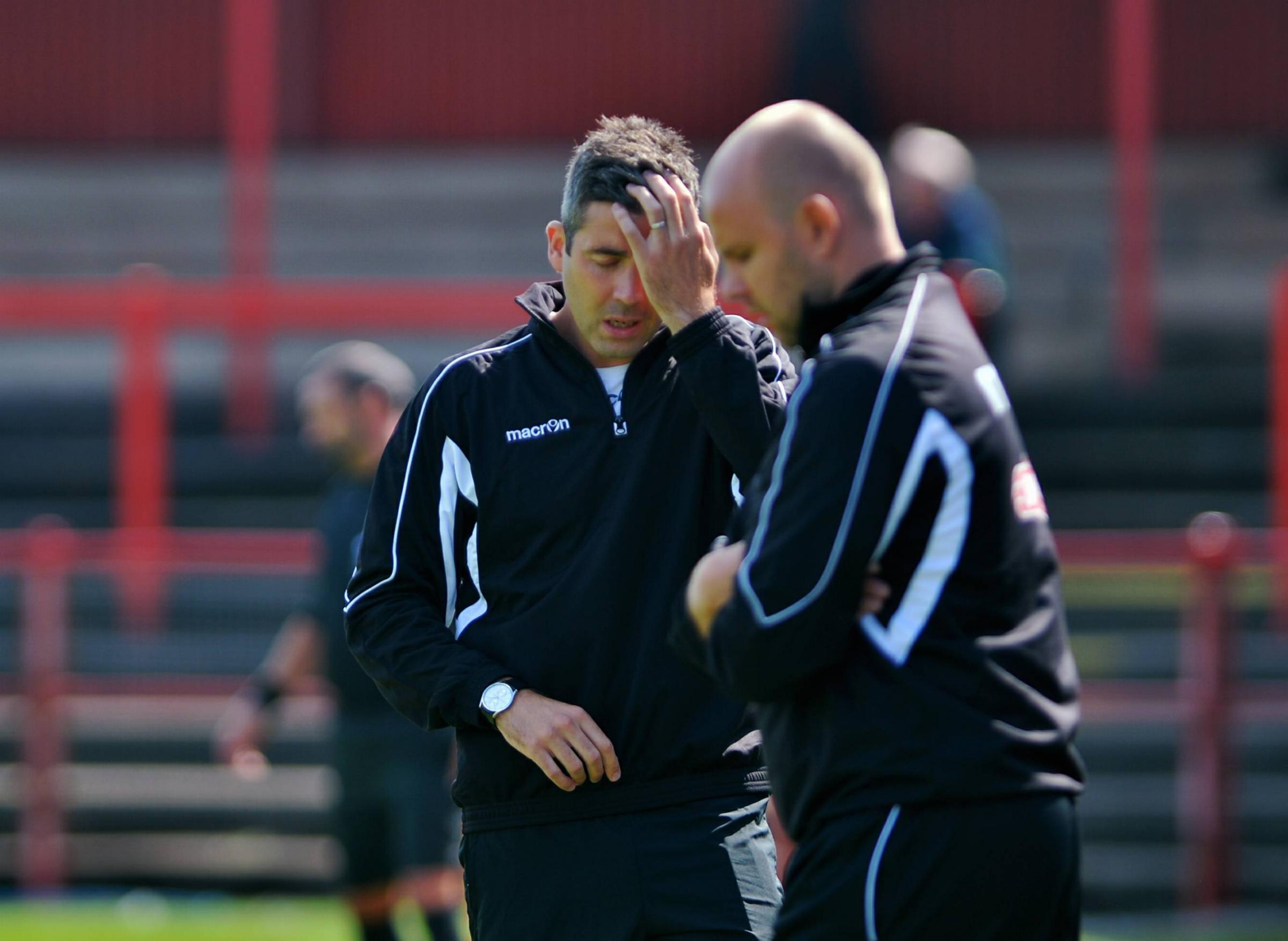 Getting there: Reds' joint managers David Hewson and Lee Andrews