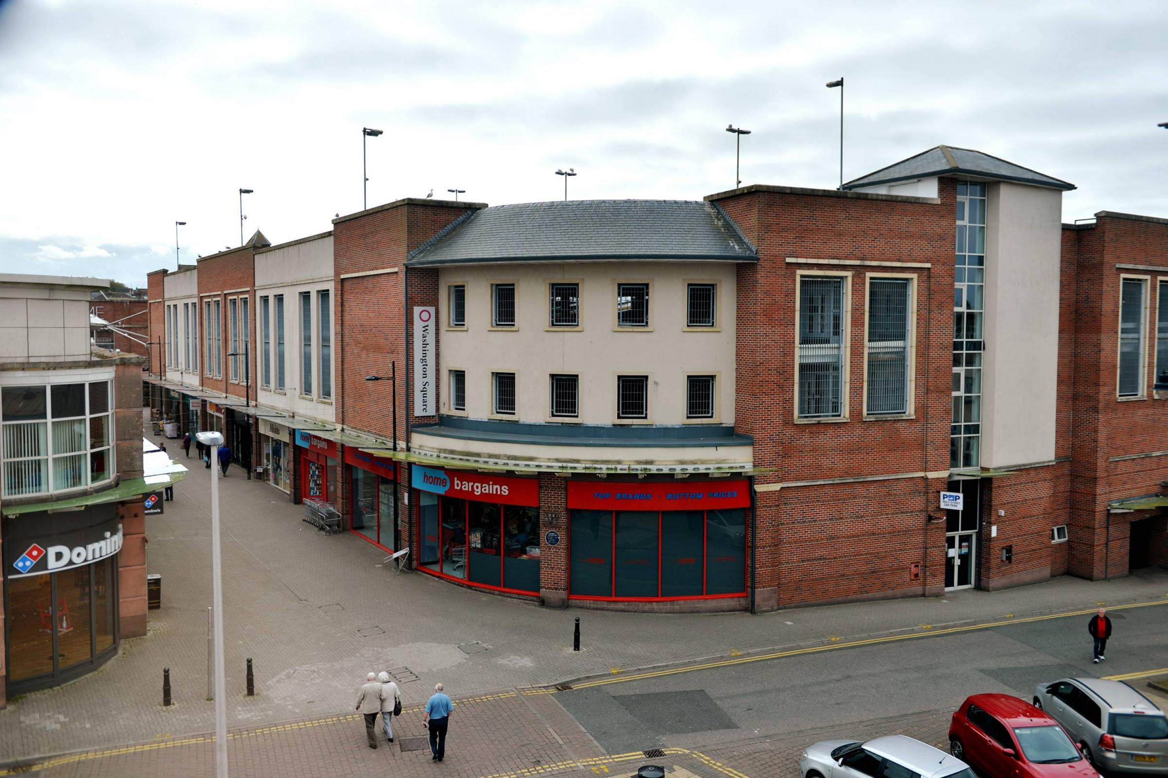 Westview An unusual view Campbell Savours Way, Washington Square, Dominos and Home Bargains in Workington..Pic Tom Kay        Tuesday 15th May 2018  50090182T002.JPG.