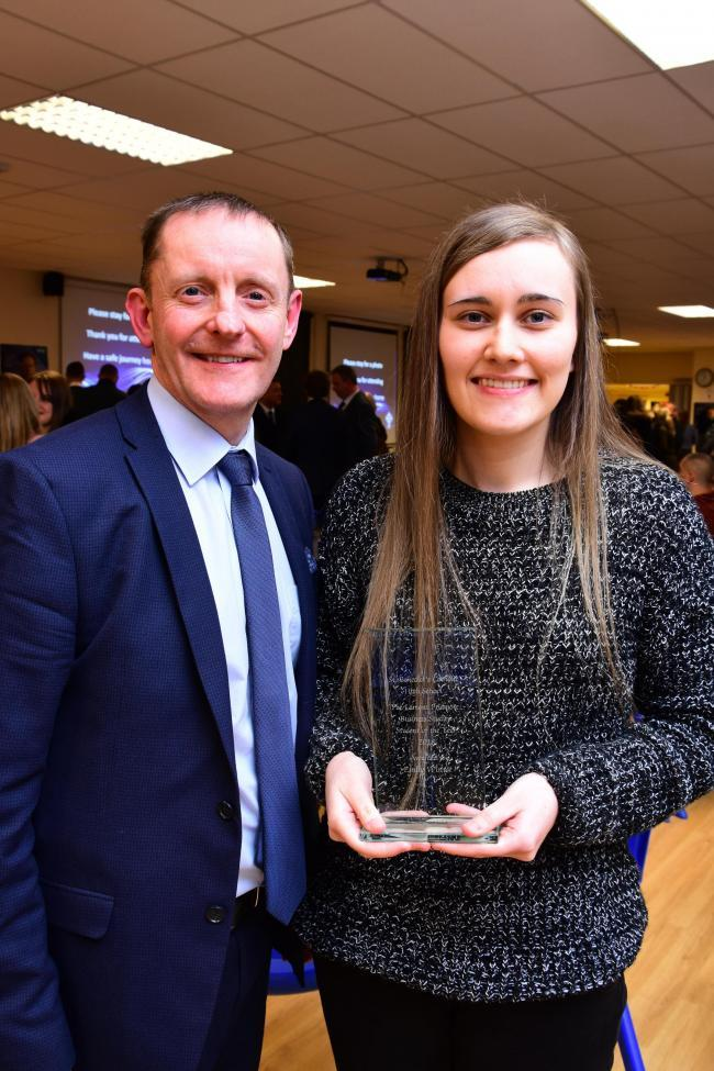 Emily Winter has been named as the Lamont Pridmore Business Studies Student of the Year, 2018. She was presnted with the award by local managing director Stuart Edger.