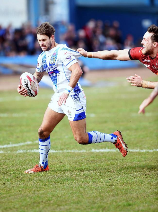 Influential: Carl Forber got a try and four goals (Photo: Mike McKenzie)