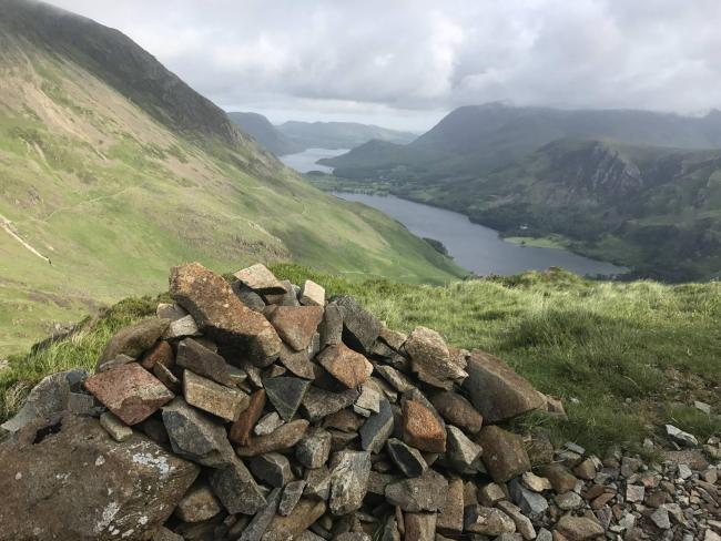 TRAGEDY: Haystacks, looking down to Buttermere and Crummock Water 				 Dick Divers