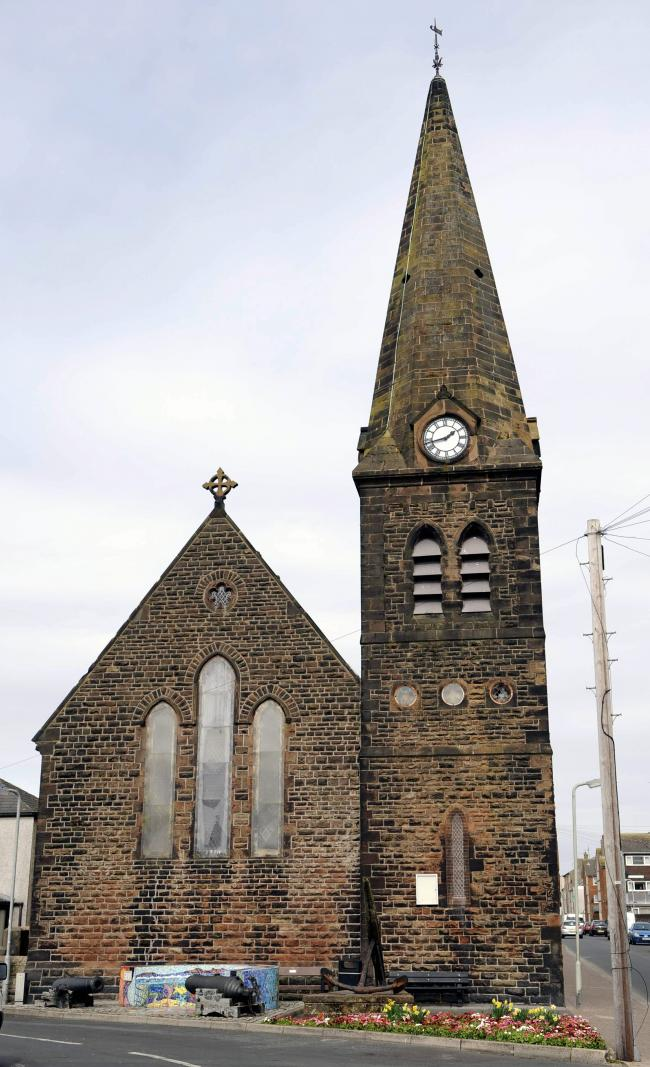 Christ Church which has been damaged by vandals