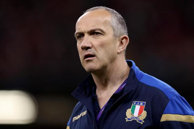 Italy boss Conor O'Shea, pictured, remains relaxed about rumours linking other coaches to his job