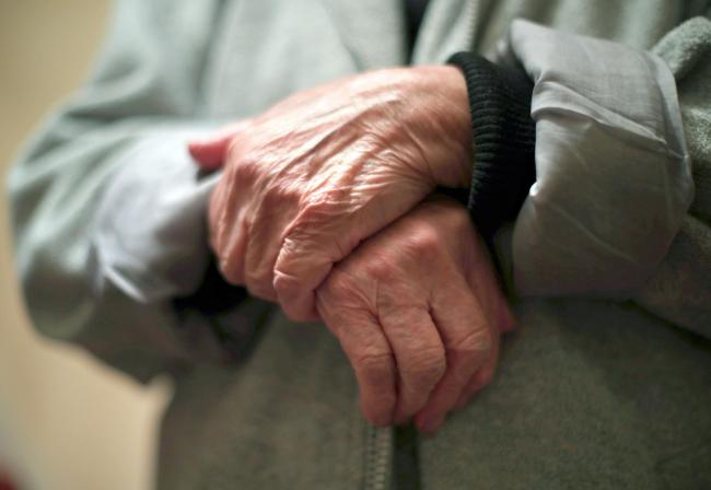 File photo dated 21/12/17 of the hands of an elderly woman. A new research by Coram Family and Childcare Trust has suggested that more than 4.3 million elderly people are at risk of being without care because of where they live. PRESS ASSOCIATION Photo. I