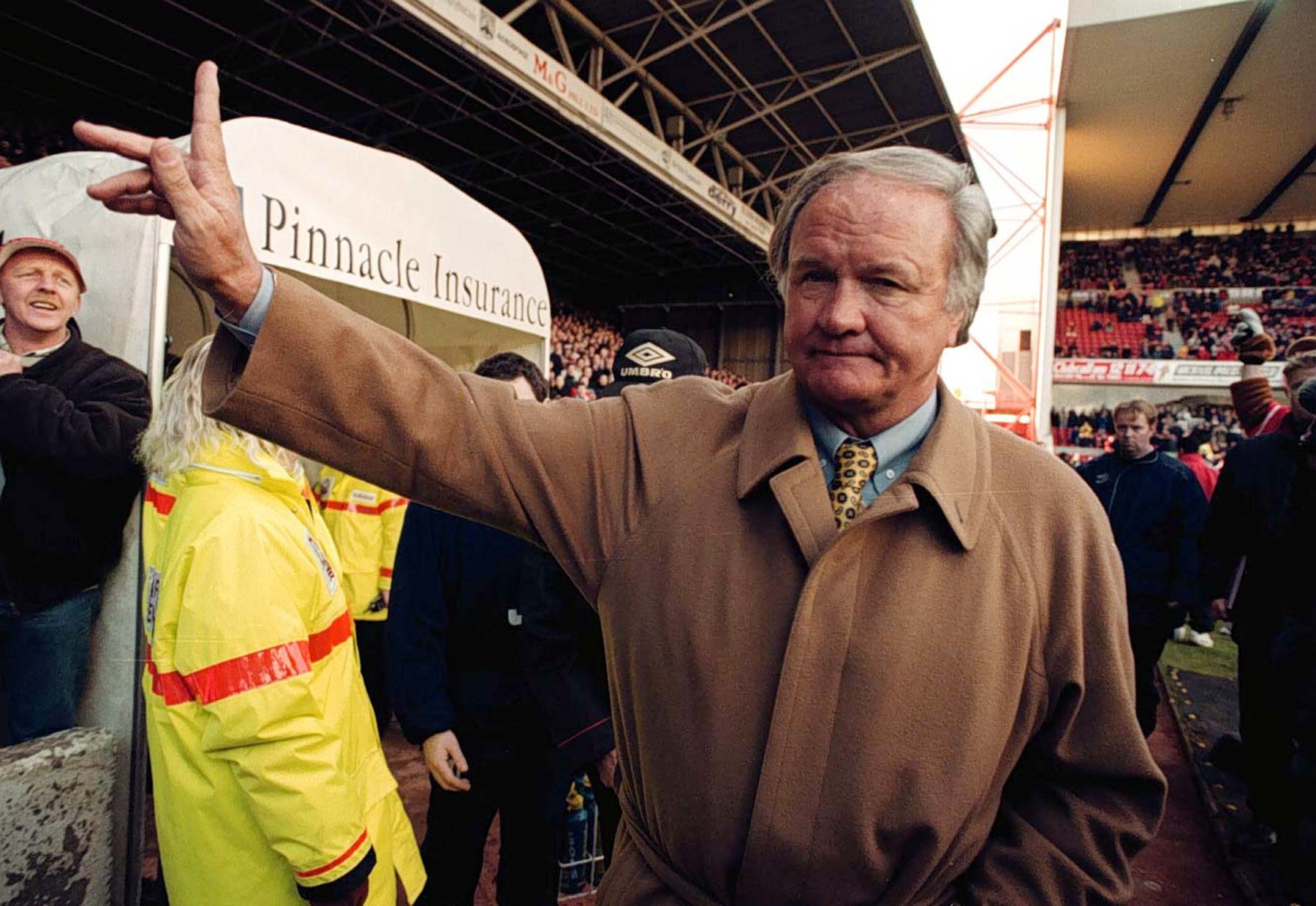 Ron Atkinson: The ex-Manchester United and West Brom boss, pictured in charge of Nottingham Forest, will be in Carlisle in May