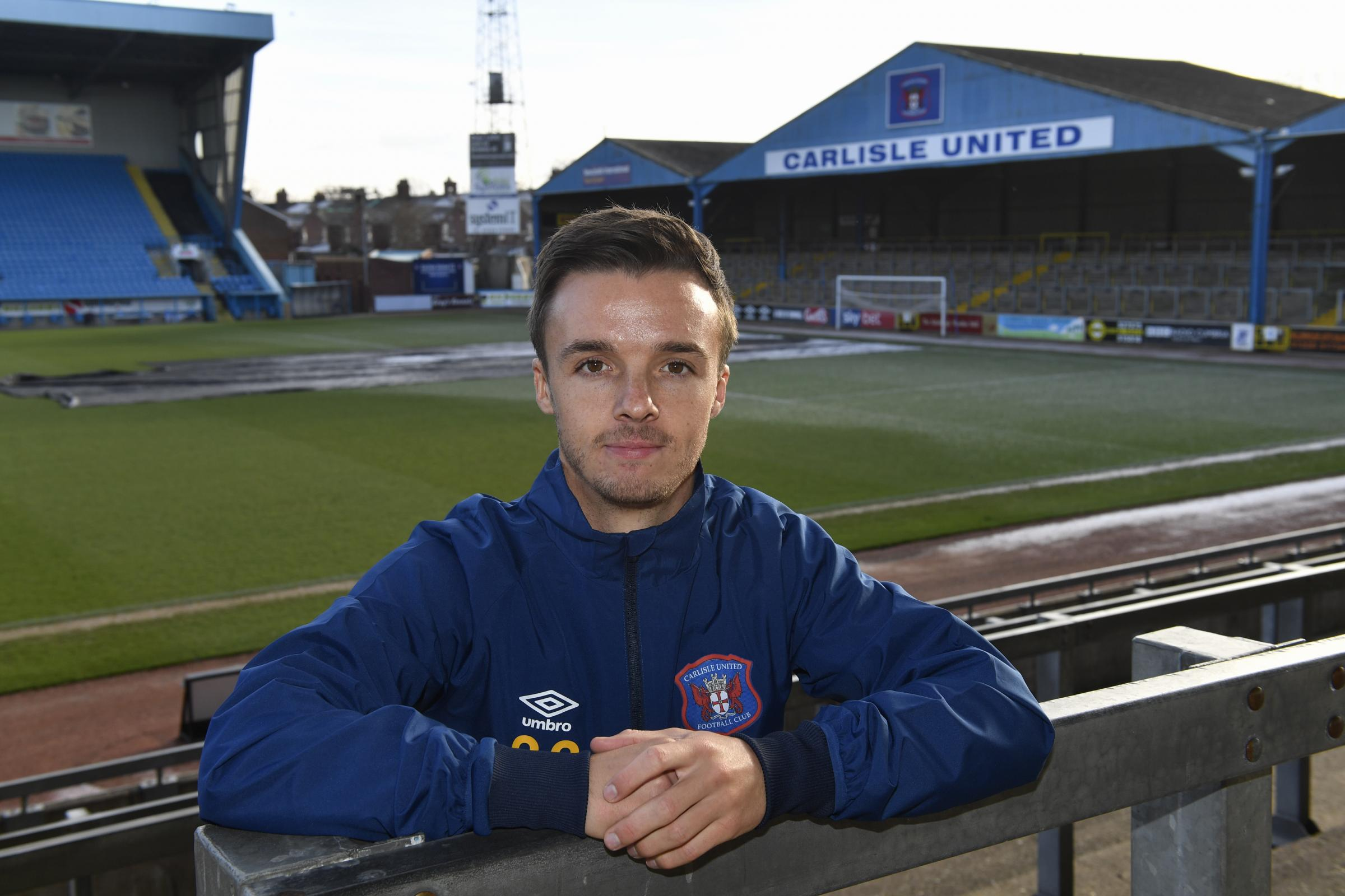Stefan Scougall at Brunton Park (photo: Stuart Walker)