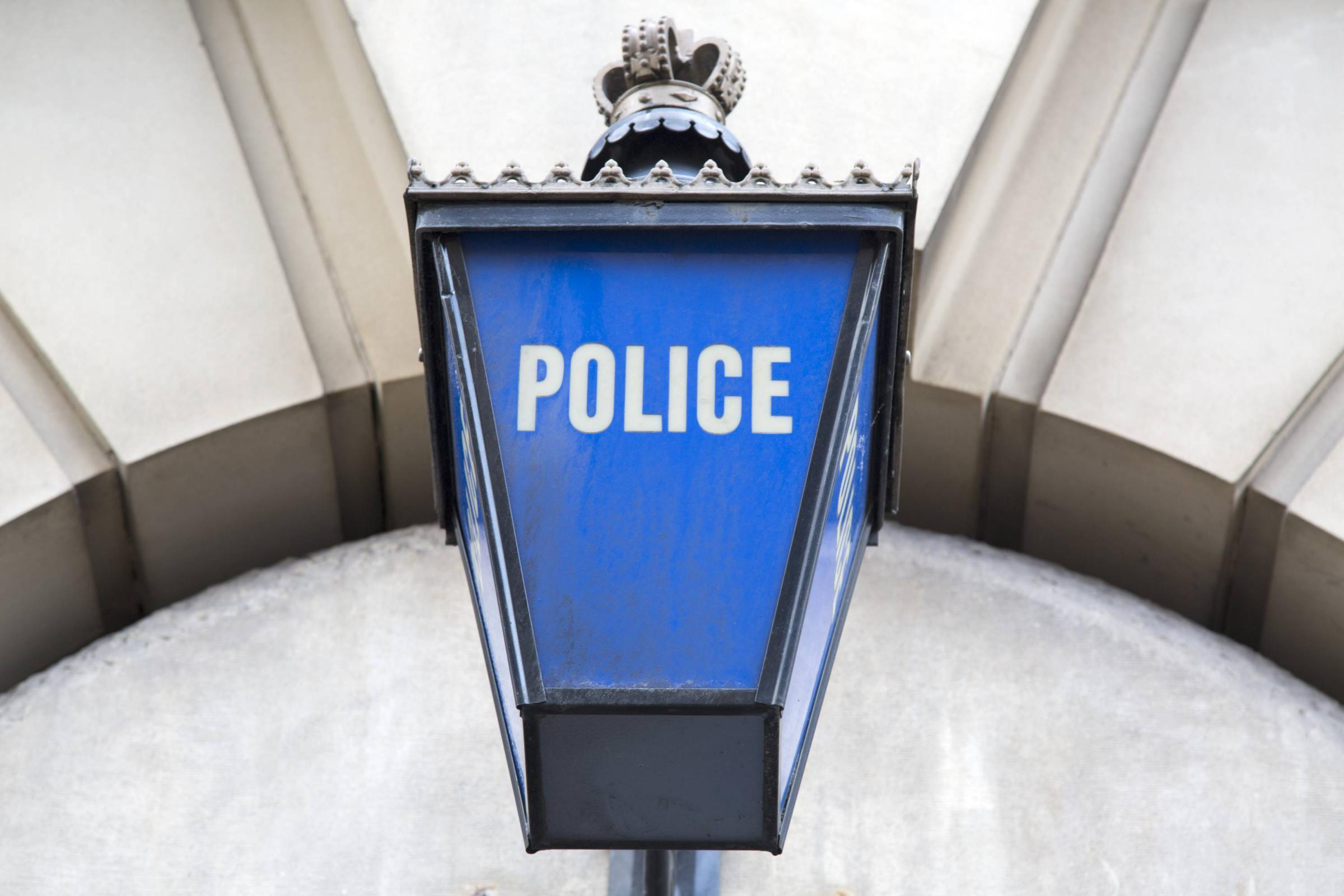 Police Station Sign; England; UK  police generic file stock.