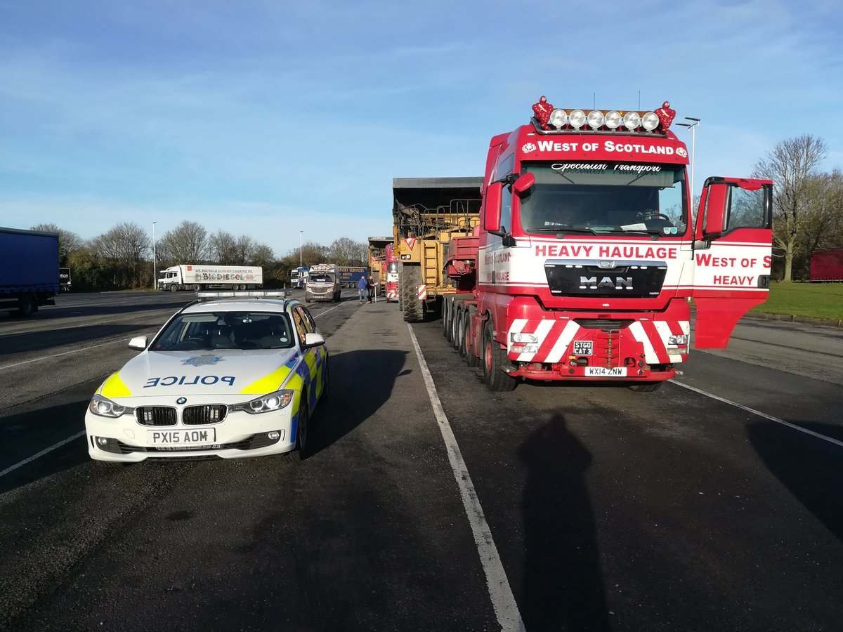 Delays are expected on the M6 due to an abnormal load. 11/02/19 Picture: Cumbria Roads Police