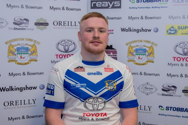 Workington Town's Perry Singleton. Picture: Gary McKeating