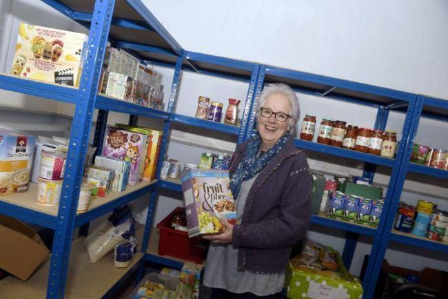 APPEAL: More supplies are needed at Carlisle Foodbank, above, chairwoman Rachael Rodway