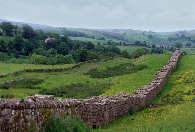 Hadrian's Wall view from Birdoswald Fort. Photo: STEWART BLAIR